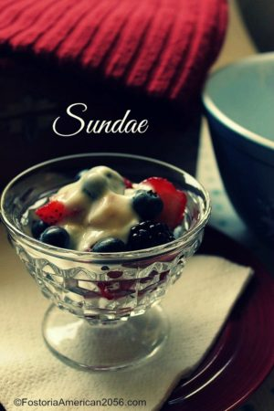 Fostoria | American | Sundae | These are the perfect dishes for serving fruit, dessert, and ice cream!