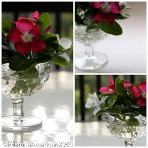 Fostoria | American | Sherbet dishes that have been chipped by time can still flourish as beautiful little bud vases.