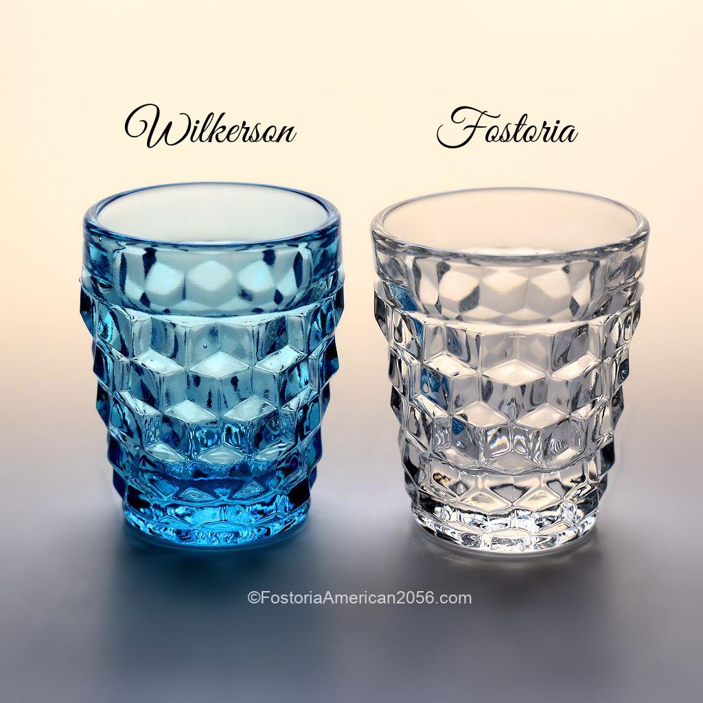 Fostoria American Whiskey Comparison