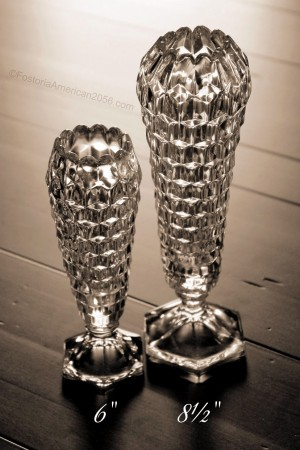 Fostoria   American   Cupped Bud Vases