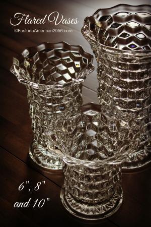 Fostoria American Flared Vases