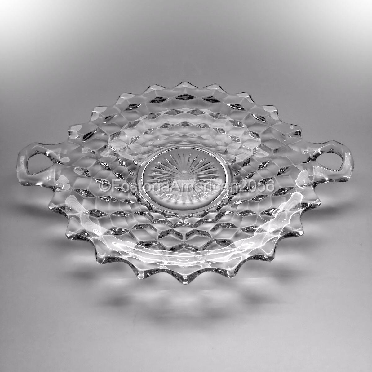 Fostoria | American | Handled Cake Plate