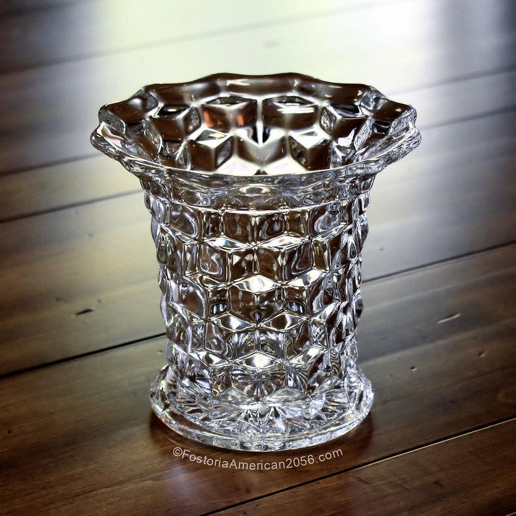 Fostoria American 6-Inch Flared Vase
