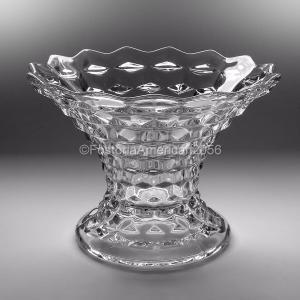 "Fostoria   American   Flared Vase 7""   High Foot"