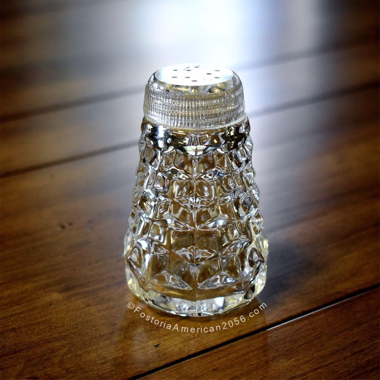 Fostoria American Salt Shaker No. 2 - F.G.T.