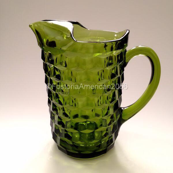Vintage Glass | Whitehall Jug | Olive