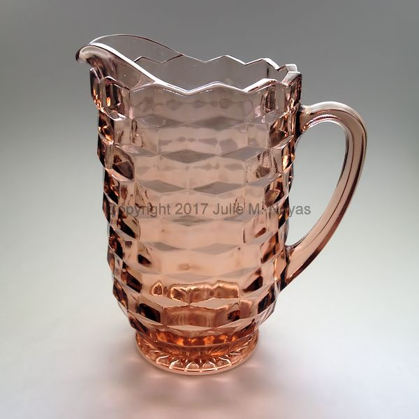 Vintage Dishes | American Whitehall Pitcher - Peach