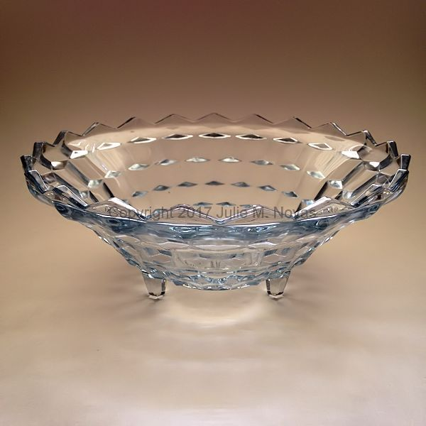 Vintage Dishes | American Whitehall 3 Toed Center Bowl - Light Blue
