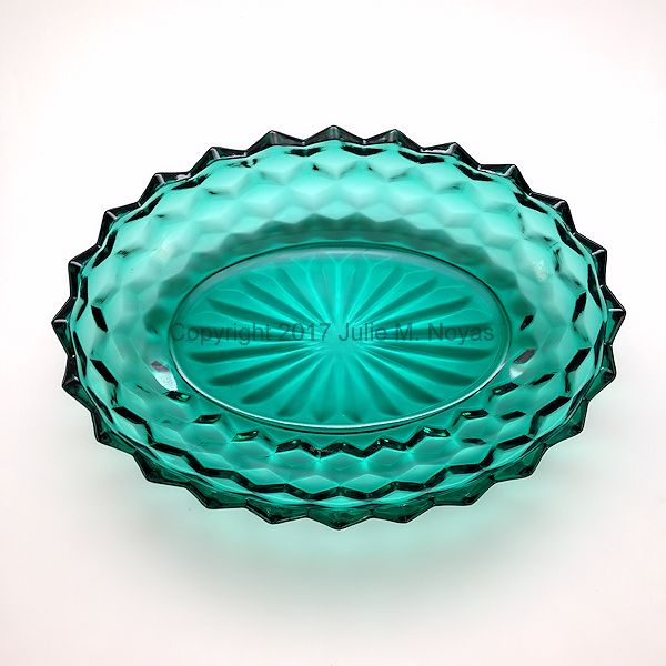 Vintage Dishes | American Whitehall Oval Bowl - Evergreen