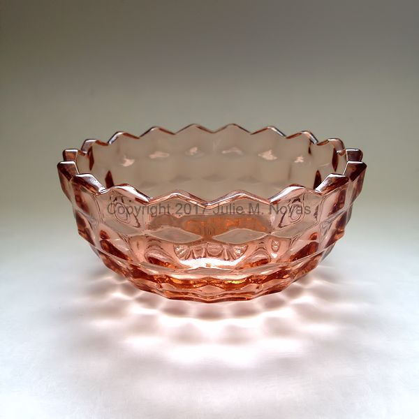 Vintage Dishes | American Whitehall Individual Salad Bowl - Peach