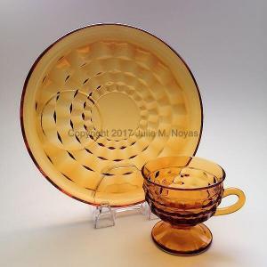 Vintage Dishes | Whitehall Snack Set - Gold