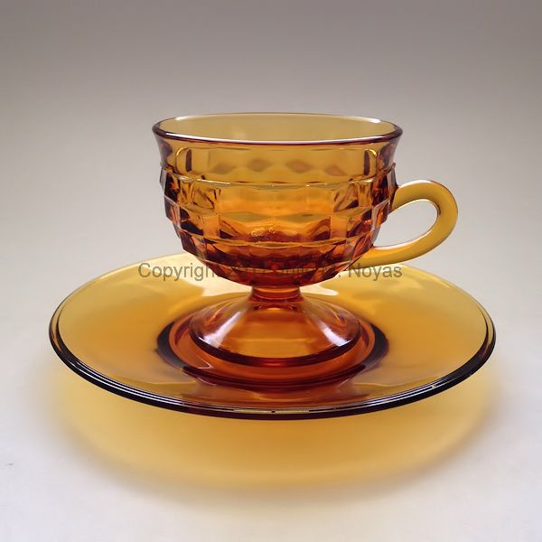 Vintage Dishes | Whitehall Cup/Saucer Set - Gold