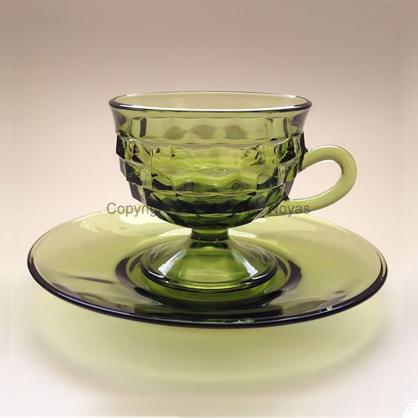 Vintage Dishes | Whitehall Cup/Saucer Set - Olive