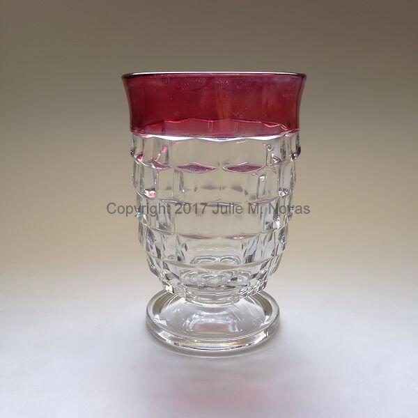Vintage Dishes | Whitehall Juice - Ruby Flashed Rim