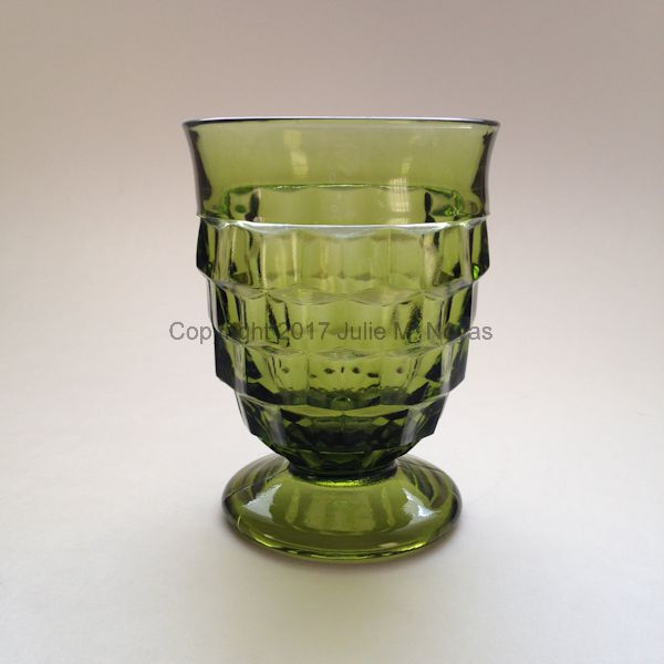 Vintage Dishes | Whitehall Tumbler/Water - Olive