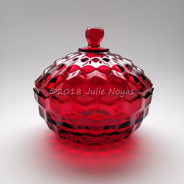 Vintage Glass | American Whitehall Candy/Cover | Ruby