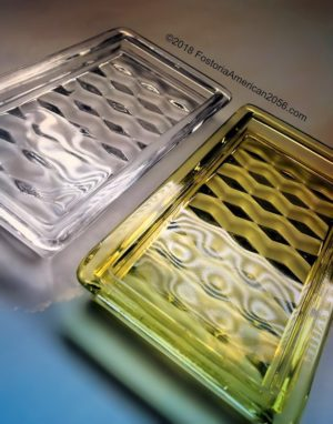 Fostoria | American | Oblong Pin Trays in Clear Crystal and Canary