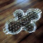 Fostoria American Condiment Tray - Cloverleaf