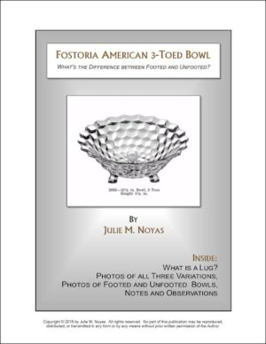 Fostoria American | 3-Toed Bowl | What is the difference between the footed and unfooted variations?