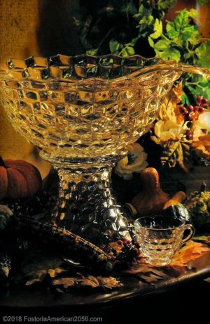 "Fostoria | American | High Foot and 14"" Punch Bowl"