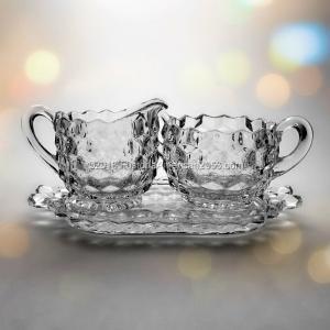 Fostoria | American | Individual Cream, Sugar & Tray