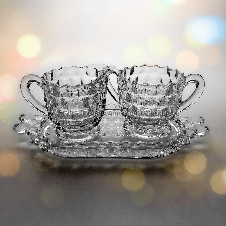 Fostoria | American | Tea Cream, Sugar & Tray