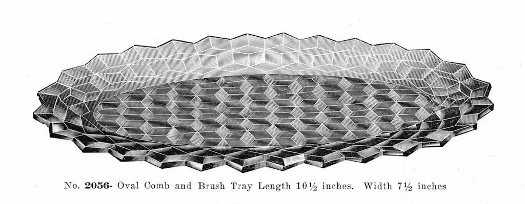 Oval Comb and Brush Tray - 1916