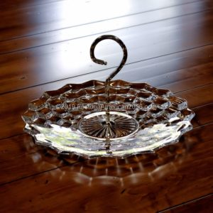 Fostoria | American | Handled Cake Tray with Metal Handle