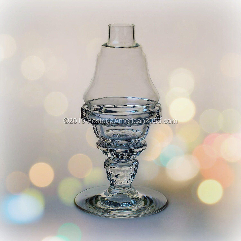 Fostoria   American   Candle Lamp Complete