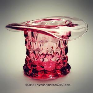 "Fostoria American 3"" Topper - Cranberry/Pink"