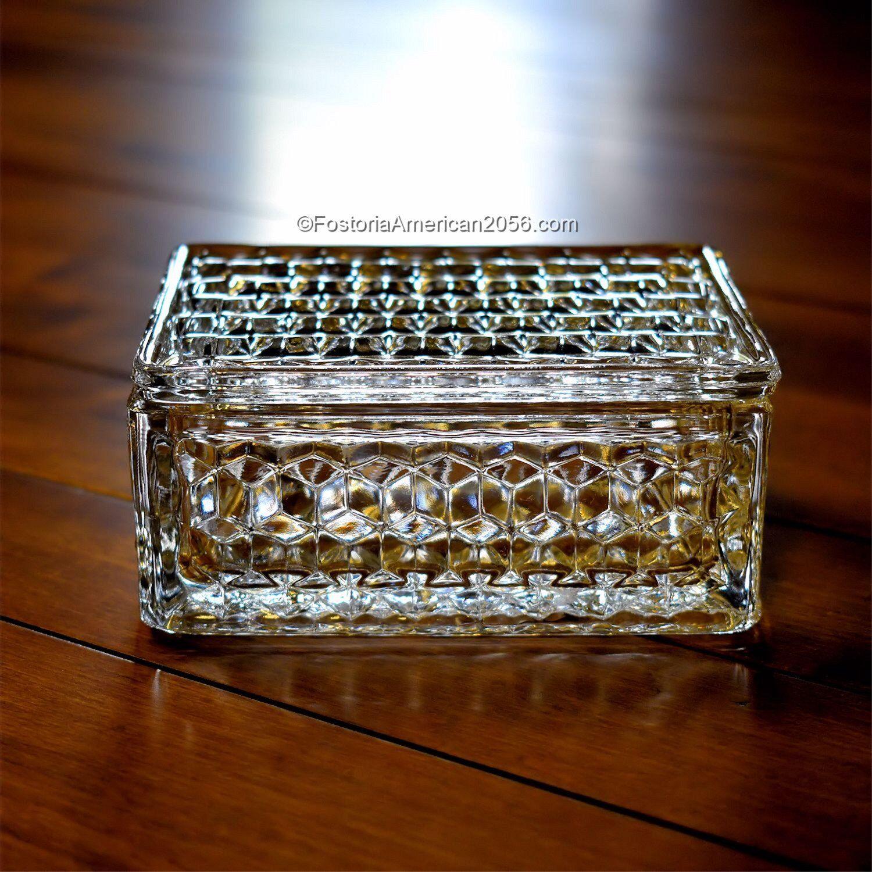 Fostoria American Cigarette Box and Cover