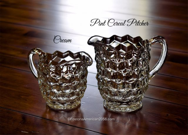 Fostoria American Cream and Pint Cereal Pitcher
