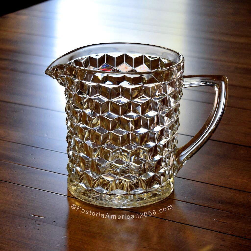 Fostoria American ½ Gallon Ice Jug (w/o Ice Lip)
