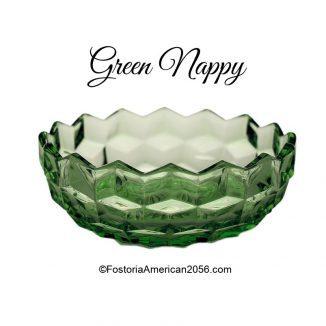 """Fostoria American Green Nappy - 4½"""""""