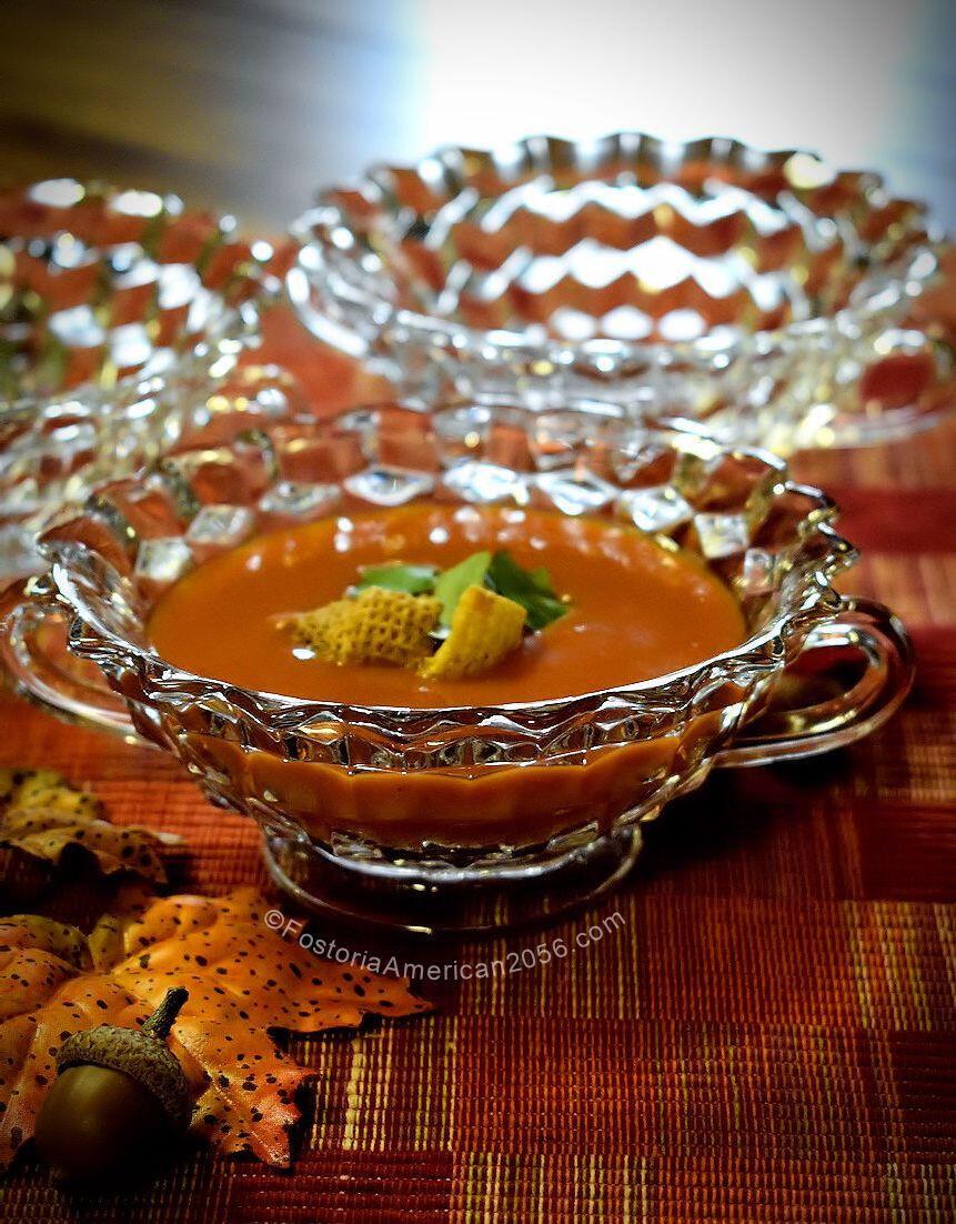 Fostoria American Cream Soup - Tomato Basil