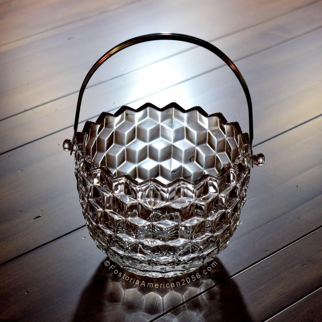 Fostoria American Ice Bucket w/ Metal Handle