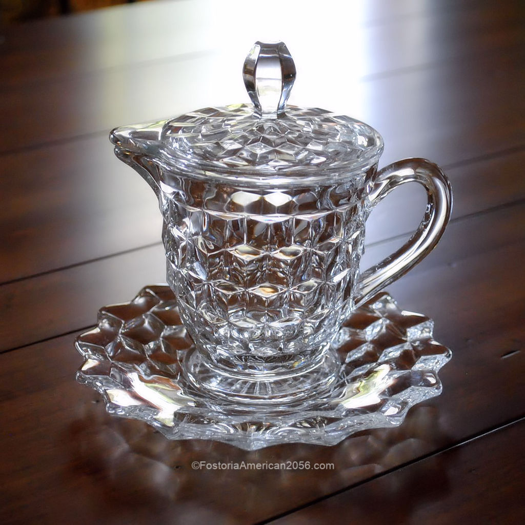 Fostoria American Syrup, Cover & Plate