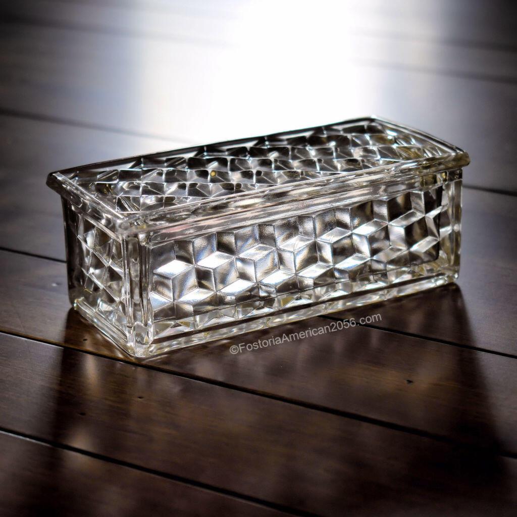 Fostoria American Jewel Box & Cover
