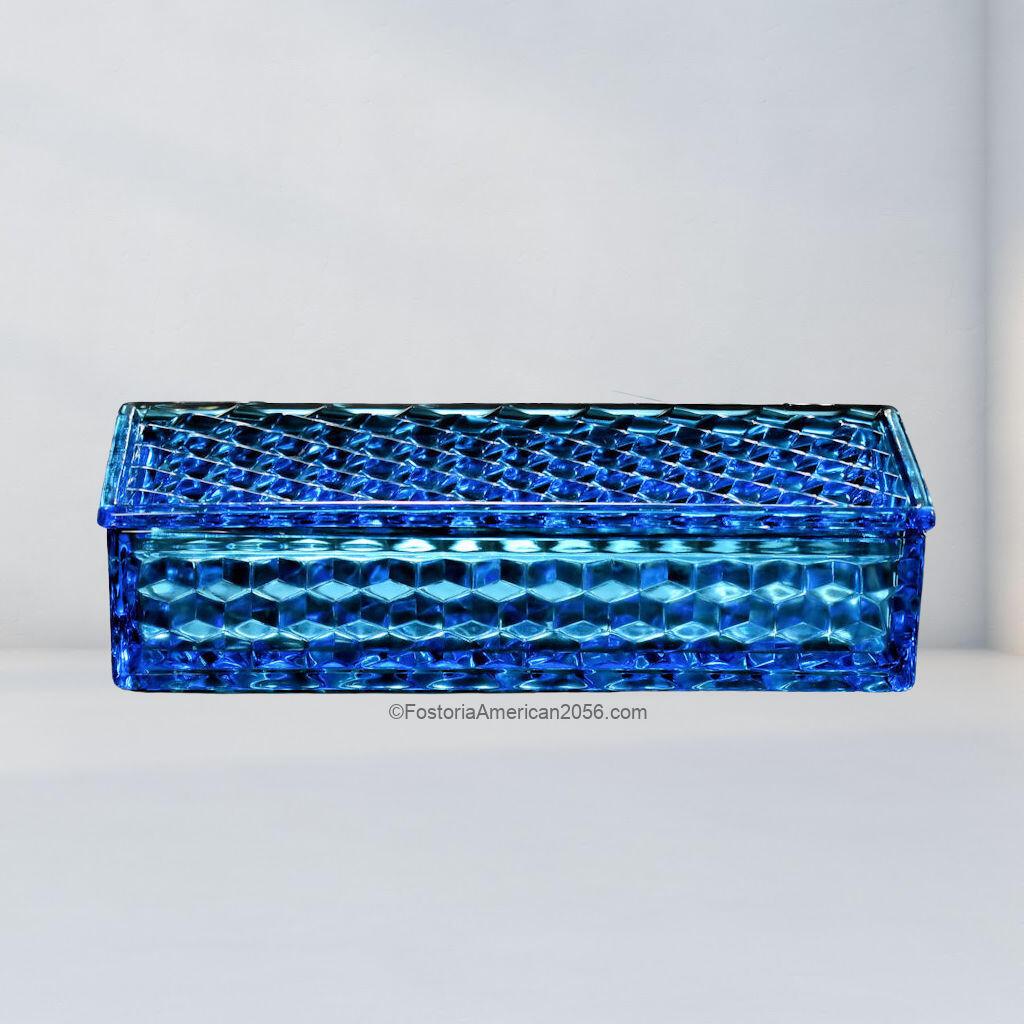Fostoria American Large Cigarette & Cover - Blue
