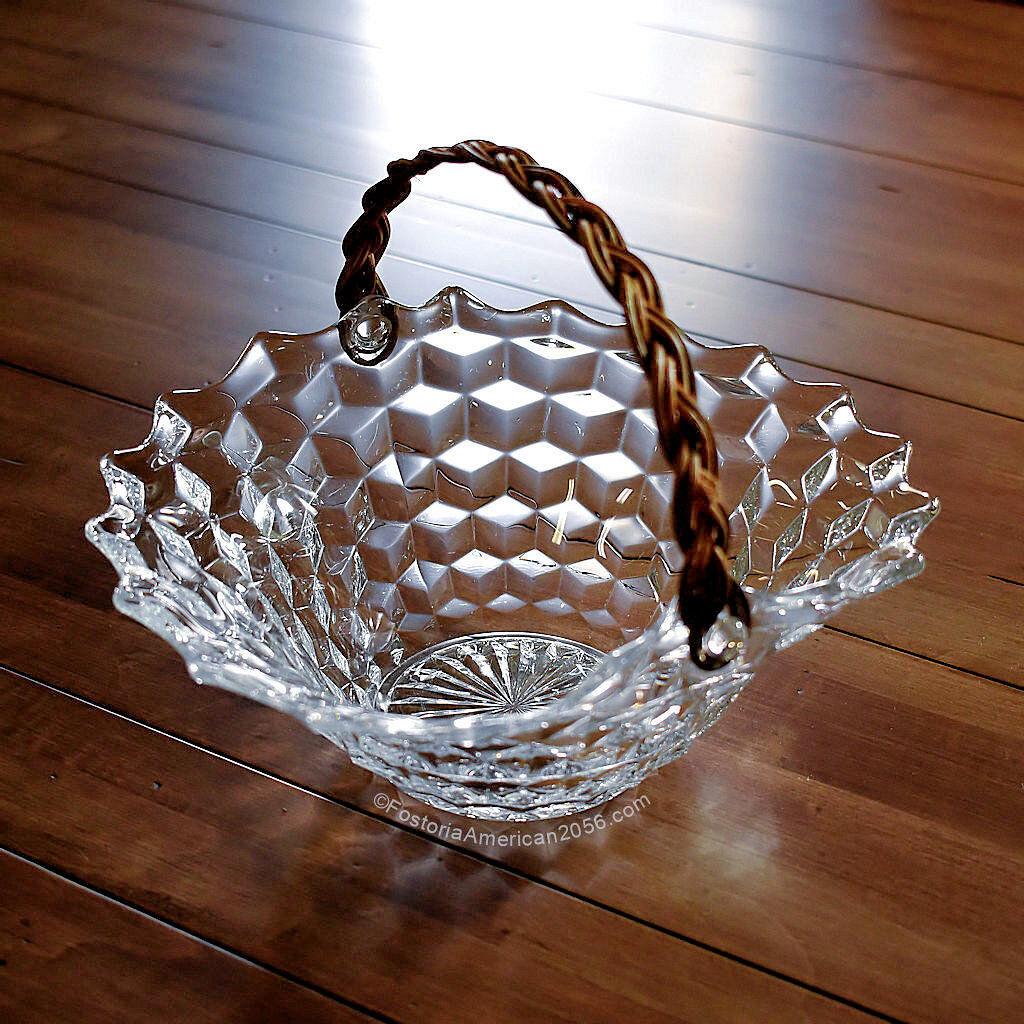 Fostoria American Reed Handle Basket