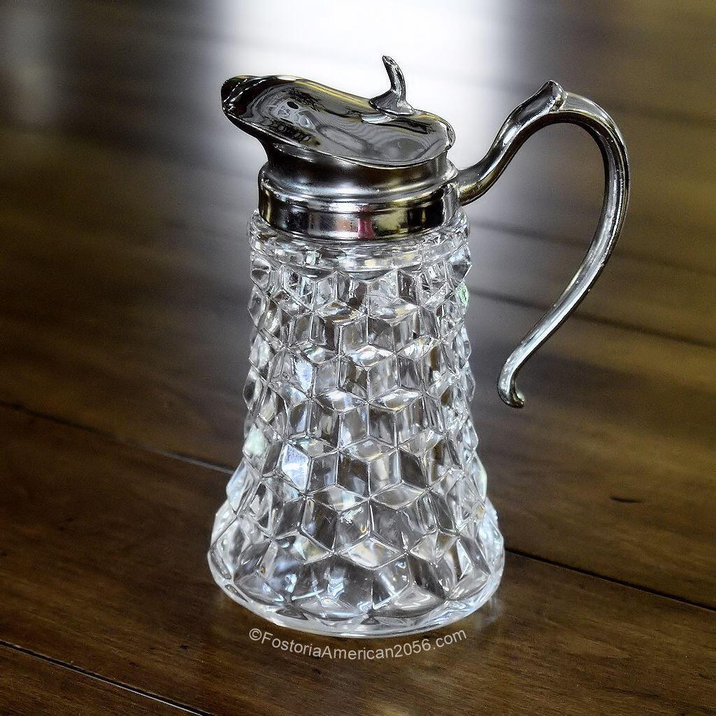 Fostoria American Syrup w/ Metal Handle